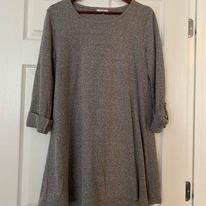 Lightweight sweatshirt tunic 3/4 sleeve